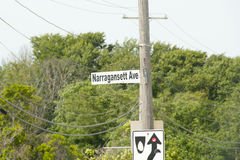 Narragansett -罗德岛州 图库摄影
