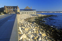 Narragansett Pier on Scenic Route 1S, RI Stock Photo