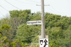 Narragansett - Rhode Island. Narragansett Avenue in Rhode Island stock photography