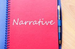 Narrative write on notebook Royalty Free Stock Photos