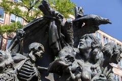 Narrenschiffbrunnen em Nuremberg, Alemanha, 2015 Imagem de Stock Royalty Free