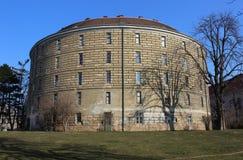 Narrenturm - historisk asyl för mentalt oordnad peolple (Wien/Österrike) Arkivfoton