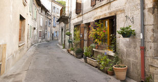 Narro street Brantome Dordogne Royalty Free Stock Images