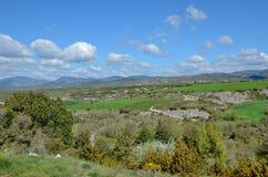 Spring view of the Spanish region Navarra Stock Photography
