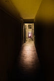 Narrow alley. Narrow dark alley in the iyalian old neighborhood Stock Photo