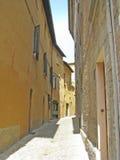 Narrow alley stock photos