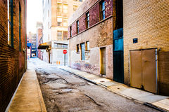 Narrow alley in Baltimore, Maryland. Narrow alley in Baltimore, Maryland stock image