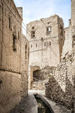 Narrow alley Birkat al mud Royalty Free Stock Photography