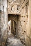 Narrow alley Birkat al mud Stock Photography