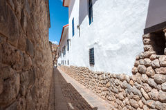 Narrow Alley in Cuzco Royalty Free Stock Image
