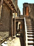 Narrow alley. Detail of narrow alley in the Coptic neighborhood at Cairo (Egypt stock photography