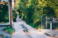 Narrow alley in Essex, Maryland. Stock Image