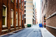Narrow alley in Harrisburg, Pennsylvania. Stock Photography