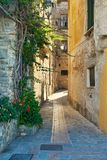 Narrow alley in Italy royalty free stock photos