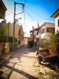 Narrow alley in Joanina royalty free stock photos