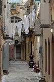 Narrow alley in Kerkyra, Corfu Stock Photography
