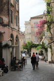 Narrow alley in Kerkyra, Corfu Royalty Free Stock Photography