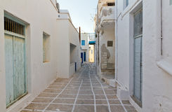 Narrow alley in Kimolos island, Cyclades, Greece Royalty Free Stock Photography