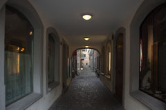 Narrow alley in Luzern, Switzerland. Royalty Free Stock Photos