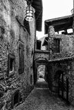 Narrow alley in a medieval village in Italy. Royalty Free Stock Photos