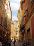 Narrow alley of Nice in southern France. Stock Image