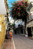 A narrow alley in Old Town of Marbella, Spain Royalty Free Stock Images