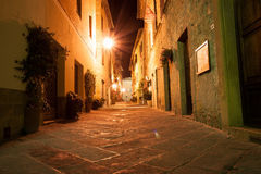 Narrow alley, Pienza Italy Royalty Free Stock Image