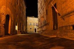 Narrow alley, Pienza Italy Royalty Free Stock Photo