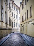 Narrwo alley in Prague Stock Photography