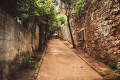 Narrow alley in princess island Royalty Free Stock Photo