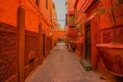Red medina of Marrakech, Morocco royalty free stock photography
