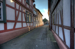 Narrow Alley In Seligenstadt Stock Photo