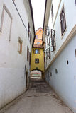 Narrow Alley in Skofja Loka Stock Image