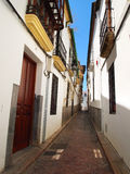 Narrow alley in Spain Royalty Free Stock Image