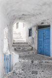 Narrow Alley and stairway on Santorini Royalty Free Stock Photo