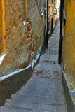 Narrow alley in Stockholm. The narrowest alley in Gamla Stan (the Old Town), Stockholm Stock Photo
