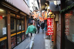 Narrow Alley in Tokyo Stock Images