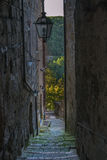 Narrow alley in the tuff Stock Image