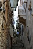 Narrow alley royalty free stock image