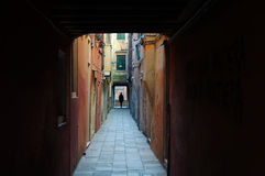 Narrow alley in Venice Royalty Free Stock Images