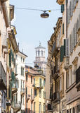 Narrow Alley in Verona Stock Image