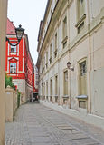 The narrow alley Stock Photography