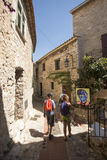 Narrow alley in Èze Village, France Stock Photos