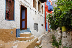 Narrow alleys in the settlement Stock Photos