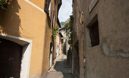 Narrow alleyway. Royalty Free Stock Images