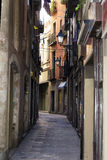 Narrow alleyway in Barcelona Stock Photos