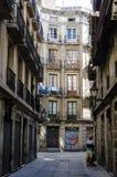 Narrow alleyway in Barcelona Stock Photo