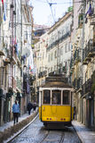 Narrow Alleyway in Lisbon Royalty Free Stock Photos