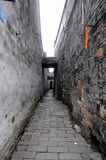 Narrow alleyway Tongli Town Royalty Free Stock Photo