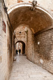Narrow ancient street of Sibenik royalty free stock image
